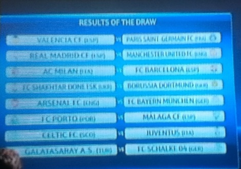 champs league rehearsal draw