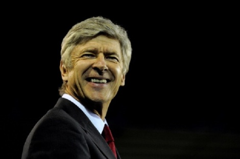 wenger smiling at birminghsm