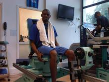 diaby working out rehab