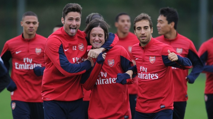 arsenal boys training