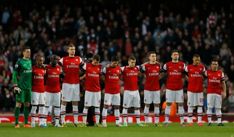arsenal starting line up