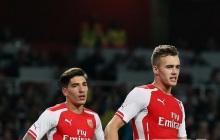 Hector Bellerin of Arsenal FC ,Calum Chambers of Arsenal FC and Isaac Hayden of Arsenal FC