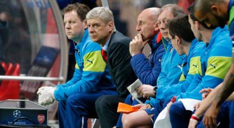 Gunners bench Arsene Wenger